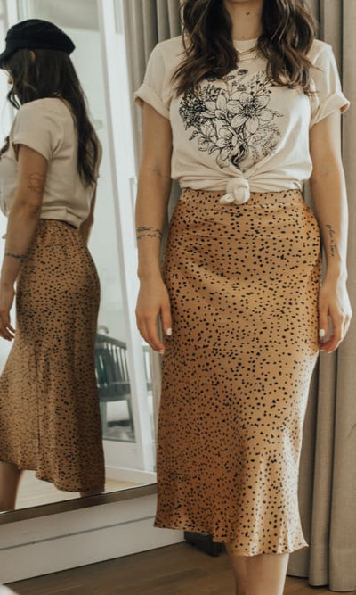 Ali Printed Midi Skirt - Bottom