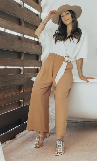 Peach Wide Leg Pants - BOTT