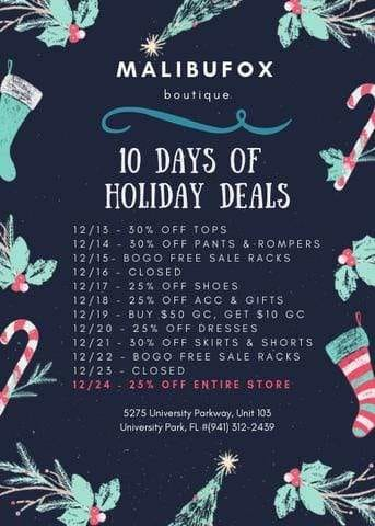 10 Days of Deals @malibufox!