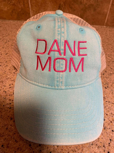 great Dane Mom Hat, Great dane lover, Great dane lover hat,  Great dane on a hat, gift for Great dane lover, gift for Great dane owner, hat for Great dane owner, hat for Great dane lover