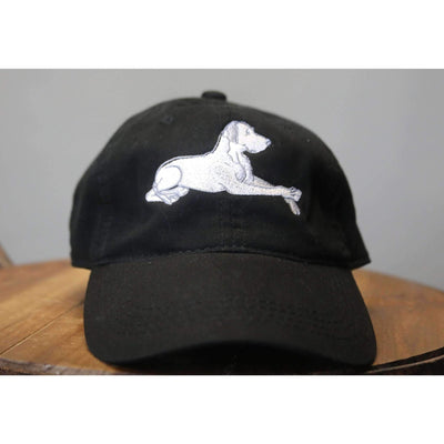 black Great Dane on a Hat