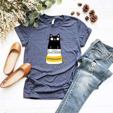 Antidepressant Cat Lover T-Shirt