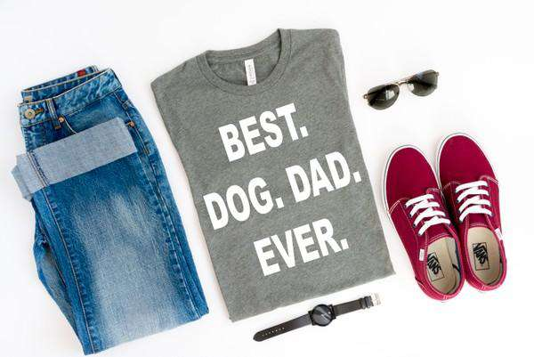 """BEST DOG DAD EVER"" Dog Lover T-Shirt"