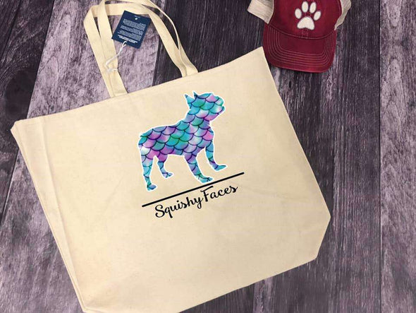 Beach Bag With French Bulldog On It