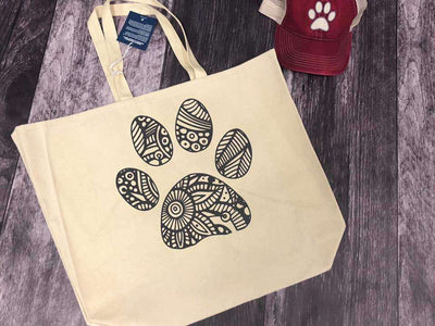 Beach Bag With Paw Print On It