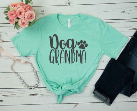 Dog Grandma written on a T-Shirt