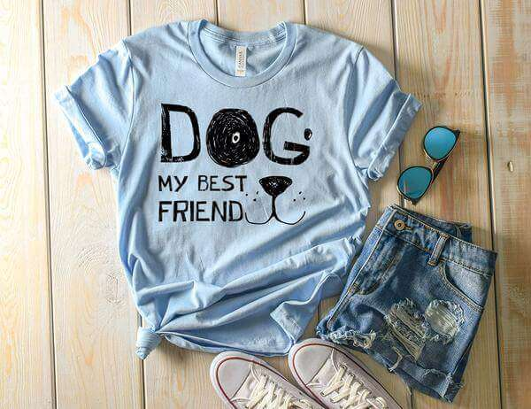"""Dog, My Best Friend"" Tee Shirt Squishy Faces"