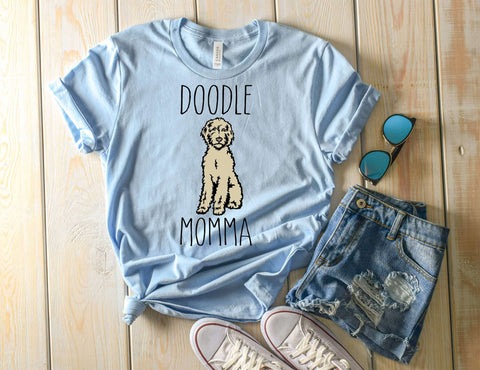Doodle Momma written on a Doodle Lover T-Shirt
