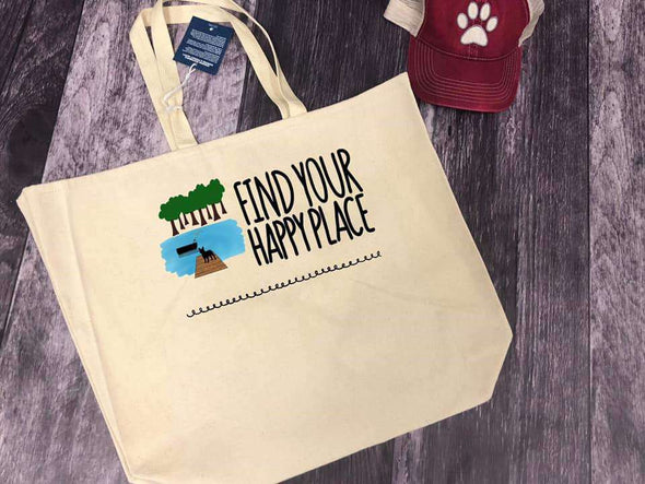 Find Your Happy Place Beach Bag