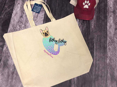 Frenchie Murmaid Beach Bag