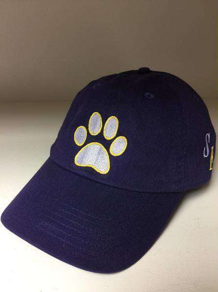 Purple Paw Print Hat