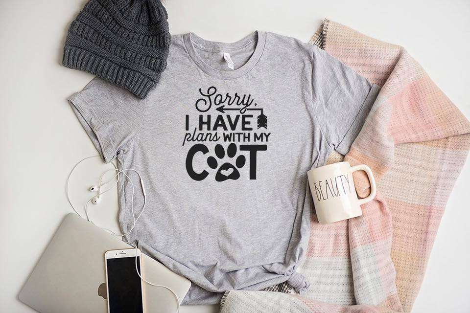 Sorry I Have Plans With My Cat Cat Lover T-Shirt