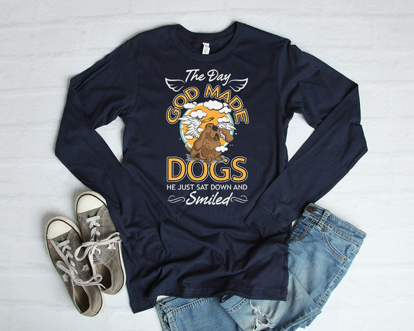 The Day God Made Dogs He Just Sat Down And Smiled T-Shirt