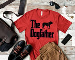 """The Dogfather"" printed on a T-Shirt"