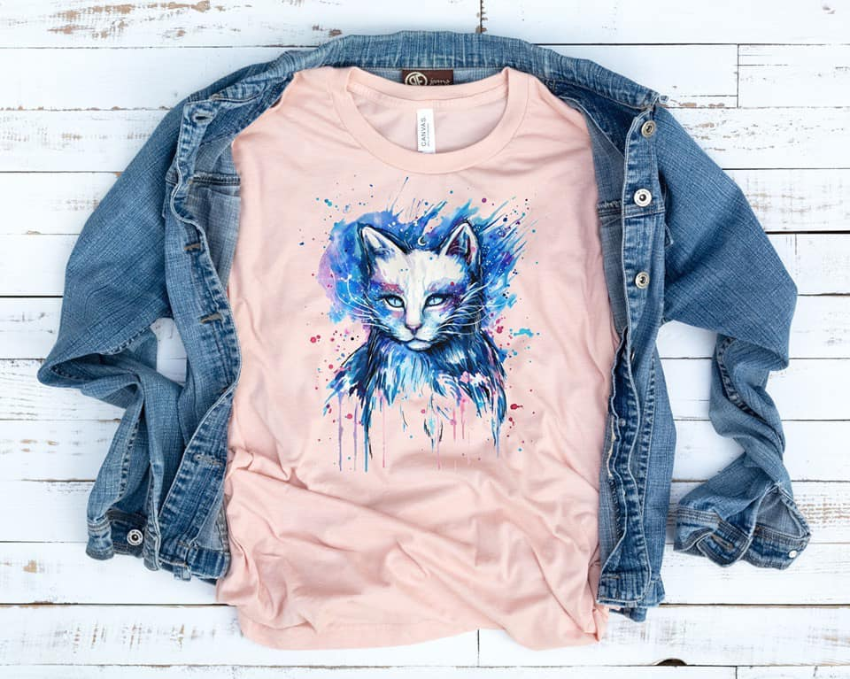 Watercolor Cat Lover T-Shirt