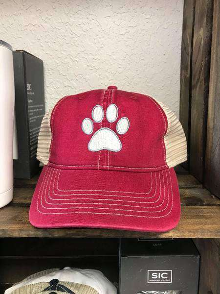 dog paw trucker hat