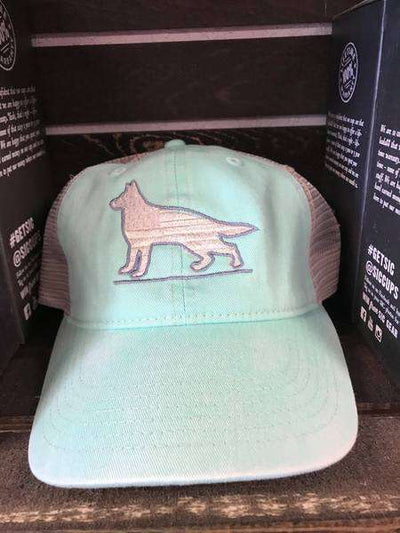 german shepard trucker hat