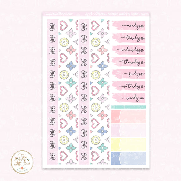 April Showers - Bottom Washi ** Foiled