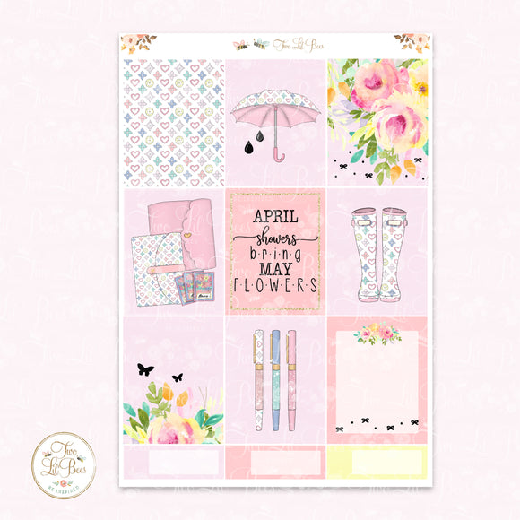 April Showers - EC Squares ** Foiled