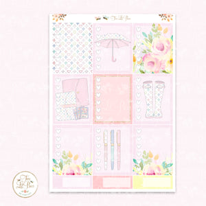 April Showers - Heart Checklist Boxes