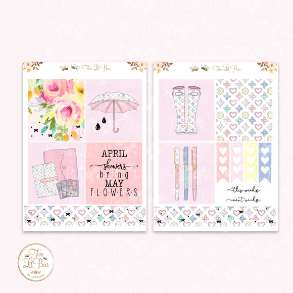 April Showers - Lil' Bee Kit ** Foiled Squares
