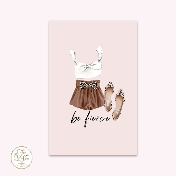 Journaling Card - Be Fierce