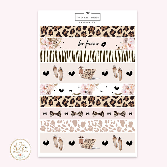 Be Fierce - Washi Strips B6 ** PRE-ORDER