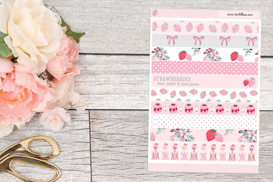 Berry Sweet- Washi Strips