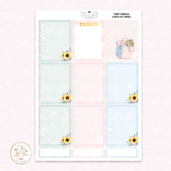 Daisy Summer - Heart Checklist Boxes