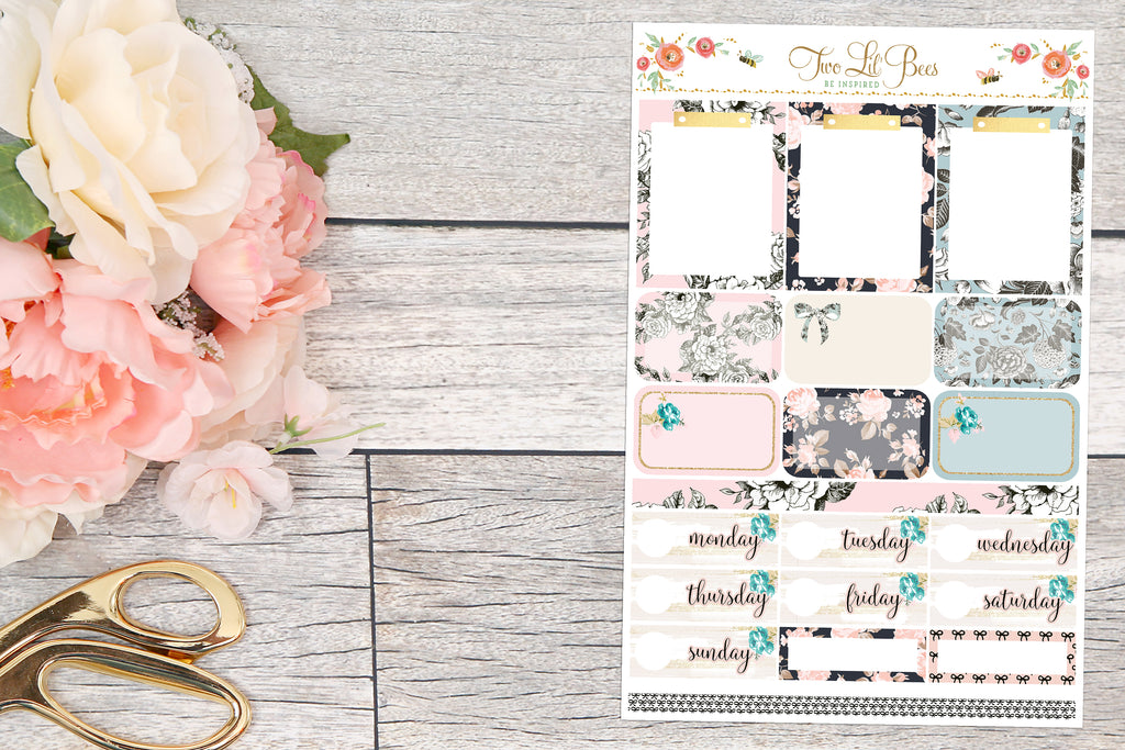 Floral Lace -  Clipboards, half boxes, date covers