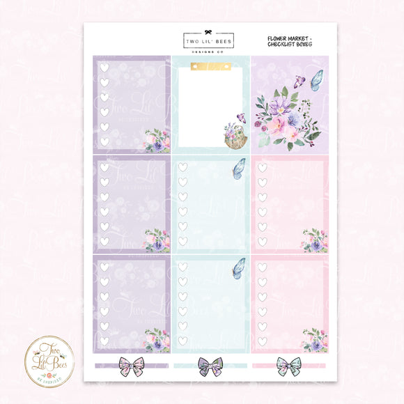 Flower Market - Heart Checklist Boxes