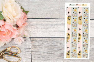 OOPS ~ Foiled : Honey Bee Bottom Washi