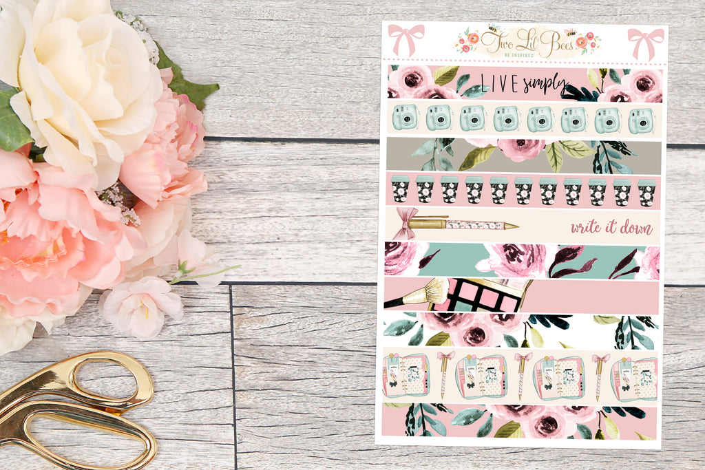 Live Simply - Washi Strips
