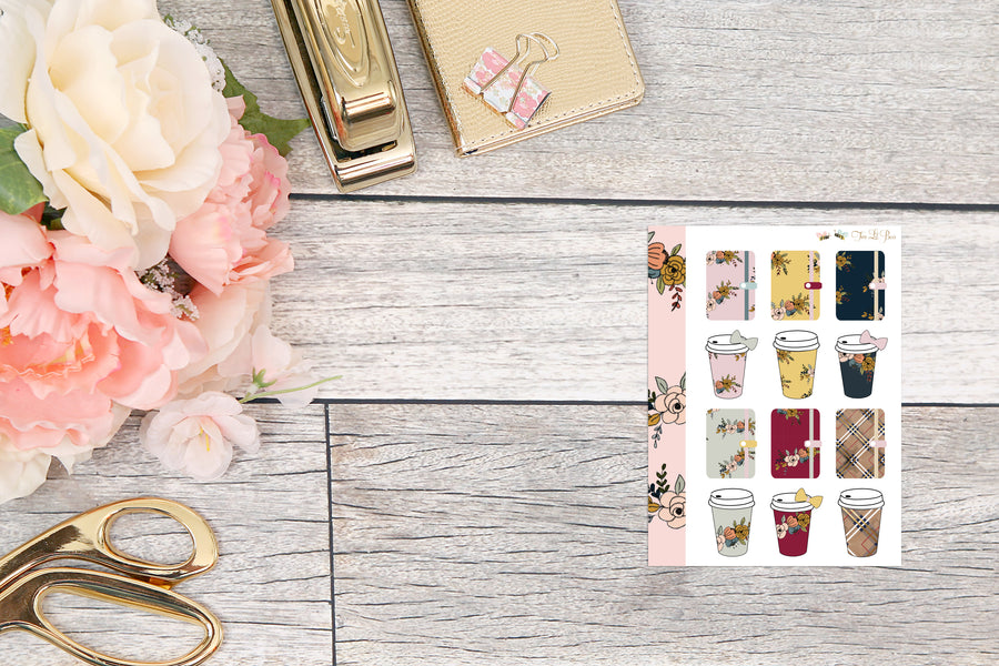Micro HP - Mini Sheets : Planners & Coffee Cups