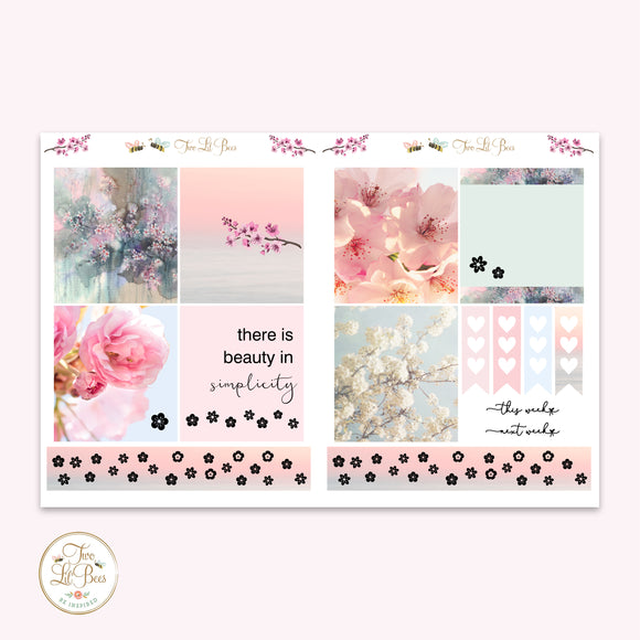 Sakura Sunset - Lil' Bee Kit ** Foiled Squares
