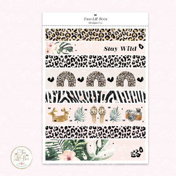 Stay Wild - Washi Strips B6