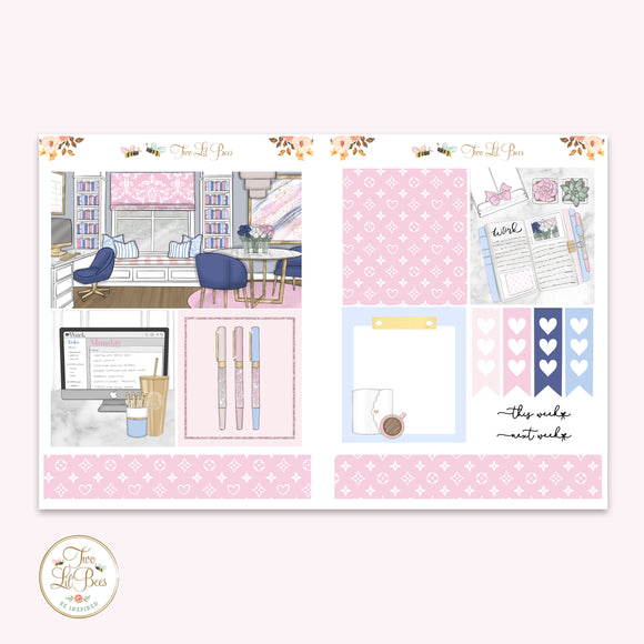 Work from Home (Pink & Blue) - Lil' Bee Kit