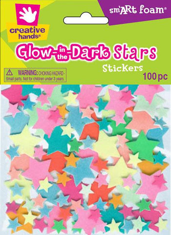 Glow-in-the-Dark Star Stickers-multicolored