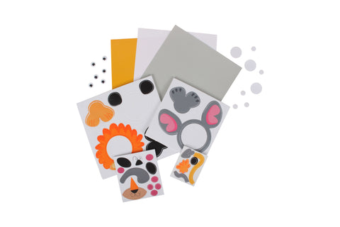 Zoo Bundle -- 4 Items: Origami Zoo Animals, Jungle Animal Kit, 35 Zoo Stickers, Monkey Maker Set