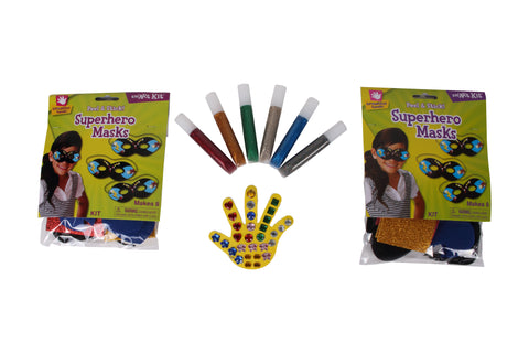 Creative Hands - Superhero Bundle - Superhero Craft Kit - Arts And Crafts For Kids - 3 Items
