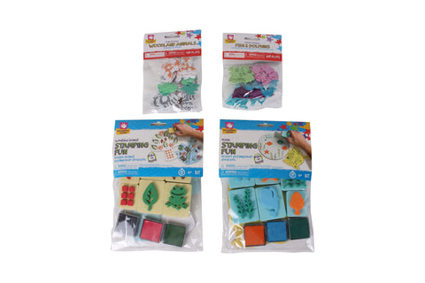 Creative Hands - Stamping Bundle - Woodland Stamp Kit - Arts and Crafts for Kids - 4 Items