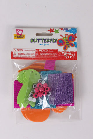 Creative Hands - Butterfly Bundle - Butterfly Craft Kit - Arts And Crafts For Kids - 4 Items
