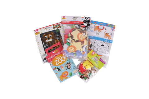 Creative Hands - It's A Zoo 2 Bundle - Zoo Animal Craft Kit - Arts And Crafts For Kids - 5 Items