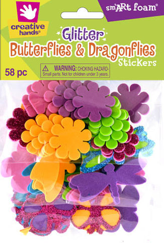 Glitter Butterflies and Dragonflies