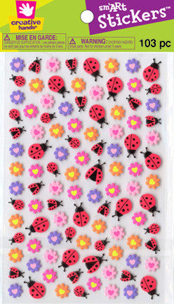 Flowers/Ladybugs mini stickers