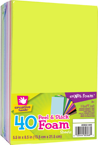 Peel and Stick Foam Sheets 40 pack