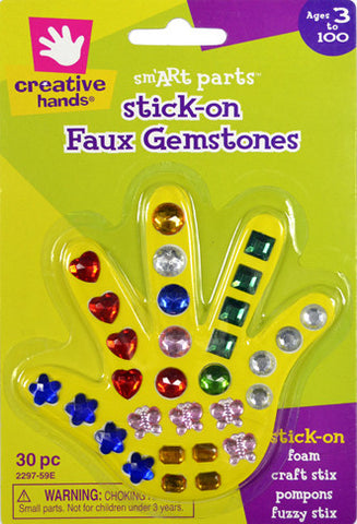 Stick-on Faux Gemstones