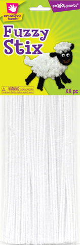 Craft Pipe Cleaners-White
