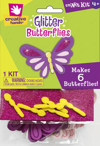 Glitter Butterflies, Makes 6