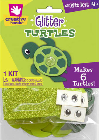Glitter Turtles, Makes 6